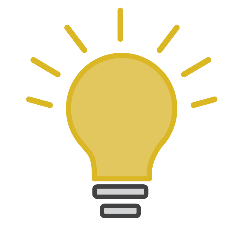 Yellow light bulb icon