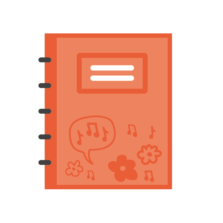 Red jotter icon