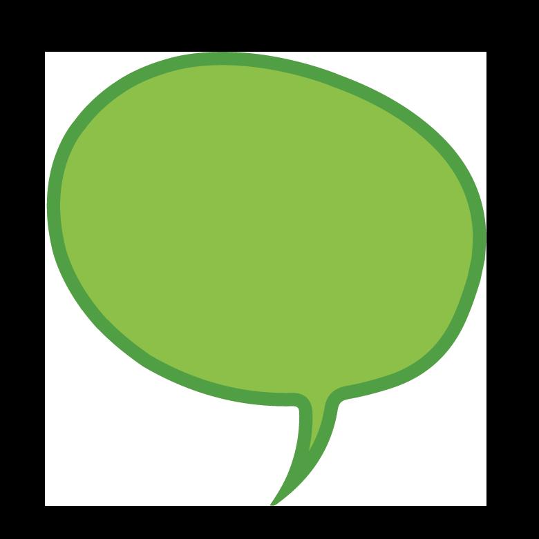 Green speech bubble icon
