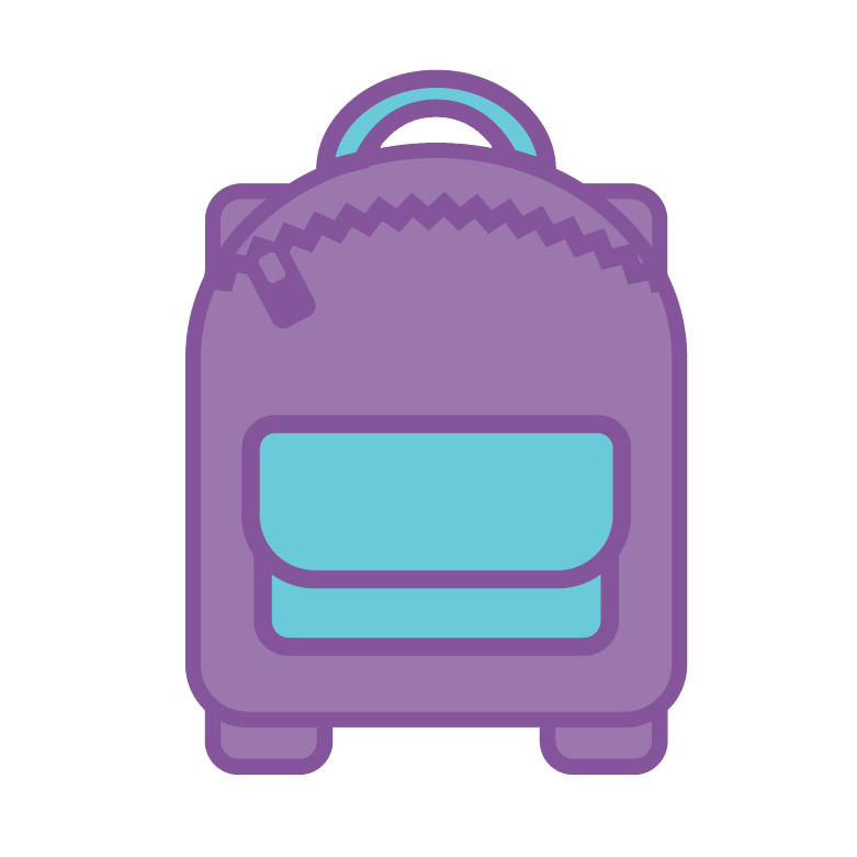 purple ruck sack icon